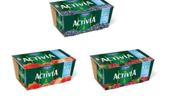 Laktosfritt i portionsförpackning! Danone lanserar Activia laktosfri probiotisk yoghurt i tre goda smaker