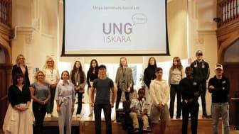 Årets unga kommunutvecklare här tillsammans med Utvecklingsenheten