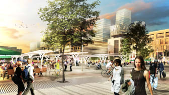 Visionsbild, Centralenområdet, Nils Ericson Hållplats