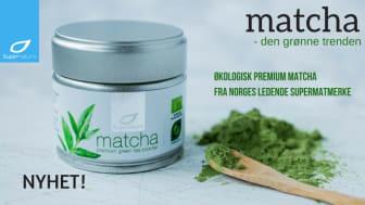 Supernature lanserer Matcha Premium green tea powder