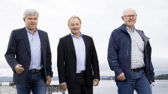 Fra venstre: Jan Henning Quist (ECT), Bård Hernes (Norconsult) og Jon Aas (ECT). Foto: Trygve Indrelid, NTB