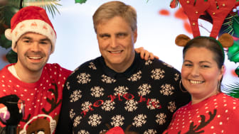 DEN ORIGINALE JULEKANALEN PÅ RADIO: Kristian Hope, Morten Scott Janssen og Hanne Bjørnevik er blant programlederne som gir lytterne all den beste julemusikken på Julekanalen P7 Klem i hele førjulstiden. FOTO: P4