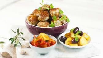 Kycklingbollar med fetaost och oregano
