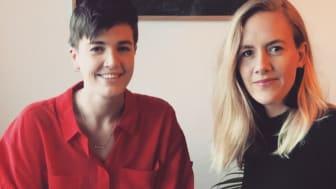 Sofie Werme och Jeanette Kimland, UX-studenter på Nackademin