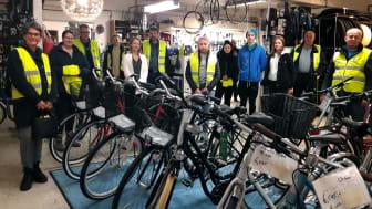 Skolungdomar och jobbpendlare bland årets Vintercyklister