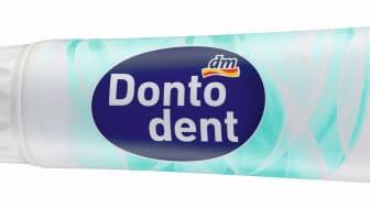 Bei Dontodent wird für 125ml-Zahncreme-Tuben ab sofort auf Monomaterial gesetzt – für eine bessere Recyclingfähigkeit.
