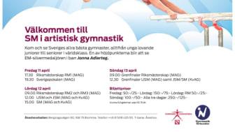 Kamp mellan Sveriges bästa i SM i artistisk gymnastik i helgen 12 - 13 april. Jonna eller Emma?