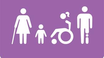 Canon trycker rättighetsikoner som ska lyfta funktionshinderfrågorna.