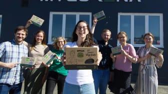 """I början av april 2020 lanserade Mycorena sin nya produkt, """"Väldigt Swedish Vego Balls"""" gjort av deras veganprotein Promyc som sålde slut efter två dagar."""