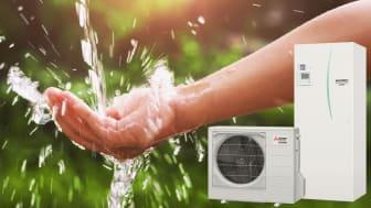 Ecodan CO2 med stor varmvattenproduktion