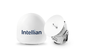 Intellian's innovative v45C antenna is now qualified for operation on the Intelsat FlexMaritime network
