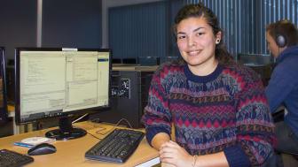 Lorena Carthy, bachelorstudent ved Noroff Høyskole