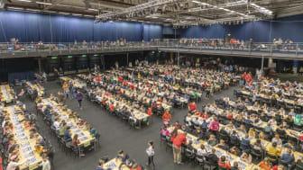 Schackfyrans Södra Riksfinal kommer att äga rum i Helsingborg Arena i maj varje år mellan 2021–2026. Foto: Svenska Schackförbundet