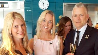 På plats i Stockholm för att representera NetOnNet och delta i Retail Awards 2017 fanns Susanne Ehnbåge (vd), Annelie Forsberg (CFO) och Per Carlsson (HR-chef)