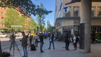 Olof Palmes gata i Stockholm under onsdagsmorgonen