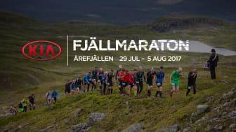 Kia ny huvudpartner till Fjällmaraton Årefjällen
