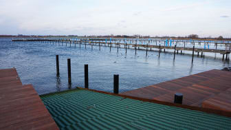 Neue Slipanlage und Sitzstufen im Yachthafen Burgtiefe