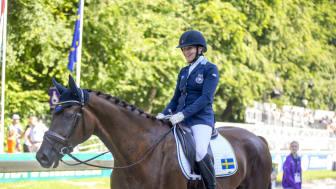 Lena Malmström och Fabulous Fidelie klara för Paralympics. Foto: Roland Thunholm