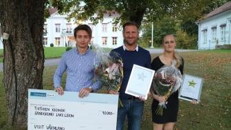 Värmlands Turismpris 2016 gick till Sandgrund Lars Lerin och Årets Uppstickare 2016 blev Hammarö Golfklubb.