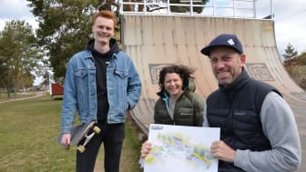 Johan Henriks, Wivi Sörlin och Peter Lundquist i föreningen Hela Rättvik Rullar