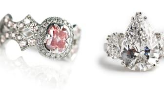 Et par dyrebare venner for livet: Sjældne diamantringe på auktion