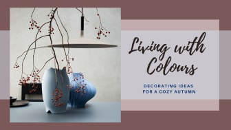 """The colourful anniversary """"Sixty & Twelve"""" vases are made of through-dyed porcelain mass."""