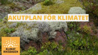 Pressinbjudan: Klimatriksdagens Akutplan för klimatet överlämnas till riksdagspartierna