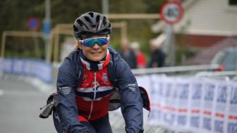 Emilie Moberg  under sykkel-VM i Bergen