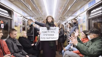 """Ulyana Nevzorova, """"This Poster Might Become the Reason of My Detention"""""""