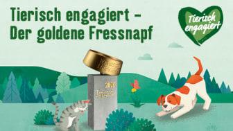 Der Goldene Fressnapf 2020: Awards für tierisch engagierte Tierschützer werden mit insgesamt 15.000 Euro dotiert