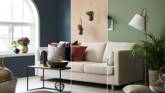 En sofa - tre stiler