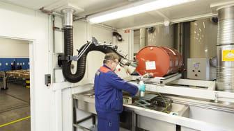 Miljöcontainer – för säker arbetsmiljö och förvaring av brandfarlig vara.