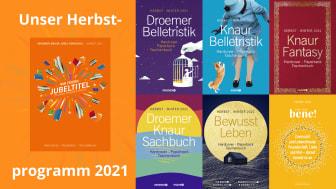 Unser Jubiläumsherbst 2021 bei Droemer Knaur
