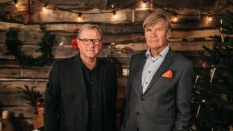 Peter Sandwall och Lars Mörlid gör en digital julkonsert 2020. Foto: Oskar Swerlander