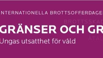 Internationella Brottsofferdagen 2015 Gränser och Gråzoner - ungas utsatthet för våld, FULLSATT
