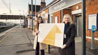 Winner Amy Walster is congratulated by Station Manager Bernadette Lee - IMAGES AVAILABLE TO DOWNLOAD BELOW
