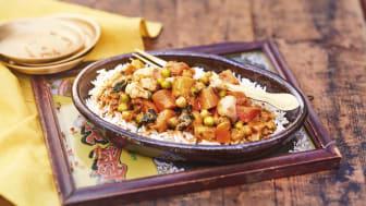 Indisk Curry med grönsaker och ris - Limited Edition!