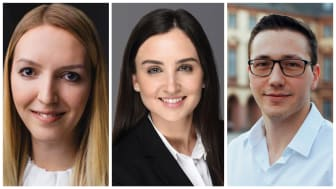 Konnten sich bereits ein Deutschlandstipendium sichern: die HdWM-Masterstudierenden Alisa Klinger, Stephanie Adam und Marco La Russa (v.l.)