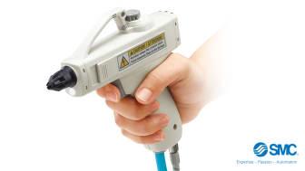 IZG10 – Kompakt och ergonomisk joniseringspistol för snabb neutralisering av statisk elektricitet