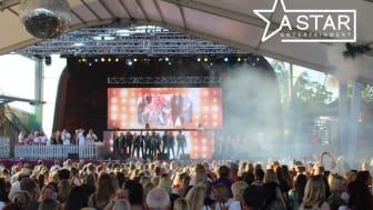 A Star siktar på ett hundratal konsertillfällen per år