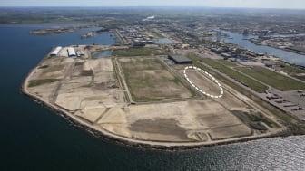Fastigheten Verkö 5 i hamnområdet. Foto: Perry Nordeng