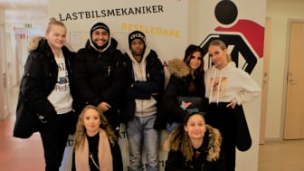 Elever på Yrkesgymnasiet i Göteborg.