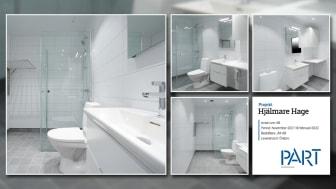 Part levererar 68 badrum till projektet Hjälmare Hage i Örebro.