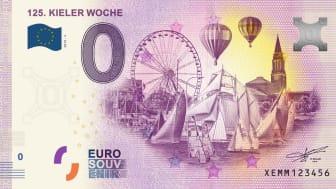 Ein beliebtes Souvenir nicht nur zur Kieler Woche - der echte 0€ Geldschein mit allen Sicherheitsmerkmalen