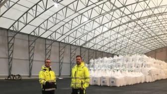 Åhus hamn väljer Intenz för belysning av lagertält 3