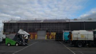 Solar panels being installed at Bradley Fold