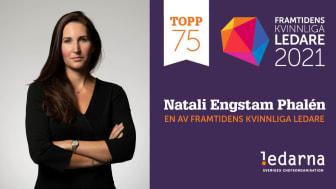 IMM:s generalsekreterare Natali Engstam Phalén utsedd till en av framtidens kvinnliga ledare