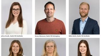 Sex nya medarbetare välkomnas till Nordic PM