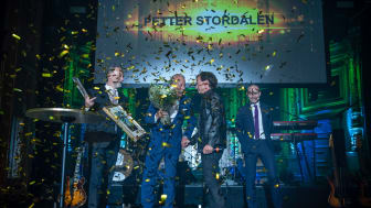 "Petter Stordalen tar emot Visitas utmärkelse ""Hall of Fame""."