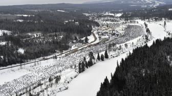 Vasaloppet 5 mars 2017 starten från ovan